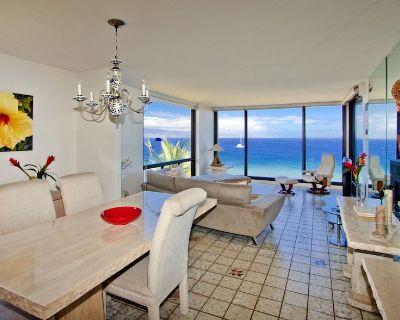 Best View on Maui! Elegant Beachfront 2BR Corner~Breathtaking Vista of Pacific - Honokowai