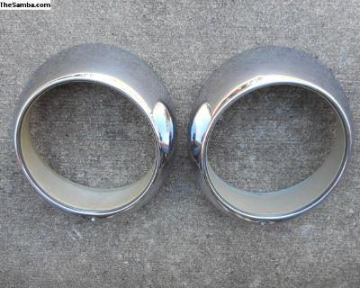 Porsche Headlight Trim Rings - VGC