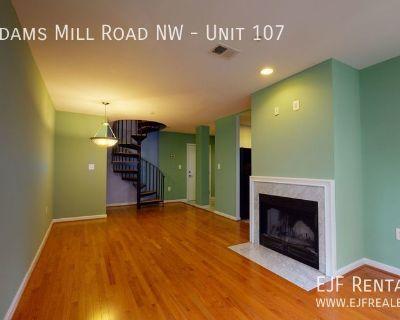 UNIQUE Adams Morgan Duplex- 2 Bedroom/2 Bathroom W/Spiral Staircase, Decorative Fireplace, & More!