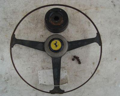 Ferrari 365 Gt 2+2 Wood Steering Wheel Button Vintage