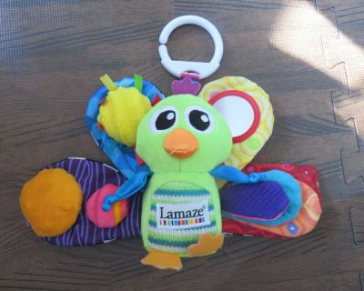 Lamaze Peacock Toy for stroller, crib or car seat