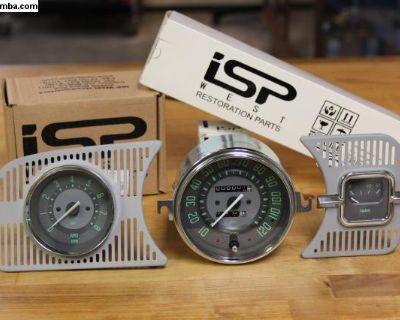 Vintage Series Green MPH Trip Speedo Gauge Kit