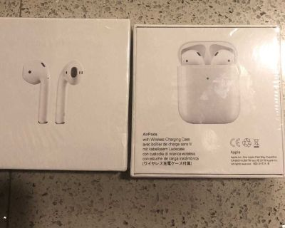 New Apple AirPod with charging case
