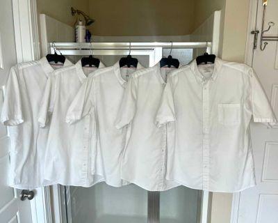 5 unisex Oxford shirts