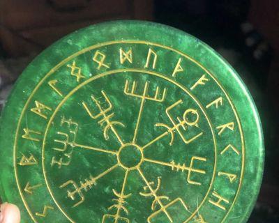 Viking rune coaster set