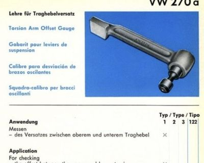 Matra VW 270a torsion arm offset tool
