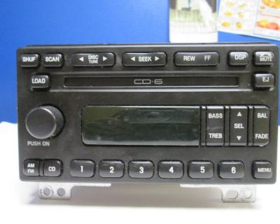 01-04 Ford Mustang 6 Disc Cd Changer Radio Mp3 Aux 1r3f-18c815-ad 638-1265