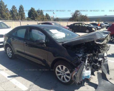 Salvage Black 2020 Toyota Corolla