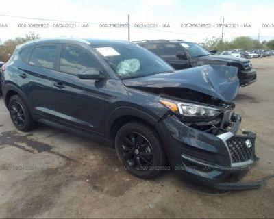 Salvage Dark Blue 2019 Hyundai Tucson