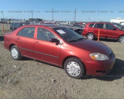 Salvage Red 2008 Toyota Corolla