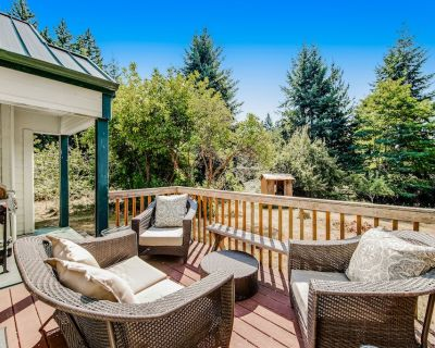 Darling Cottage in the Trees w/ Free WiFi, Full Kitchen, Wood Stove, & Gas Grill - Clinton
