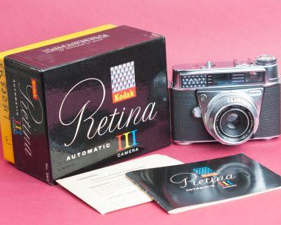 Kodak Retina Automatic III (later model) - Boxed, paperwork, Flash, All Near Mint