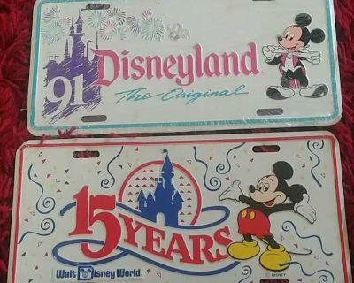 Walt Disney mickey mouse license plates