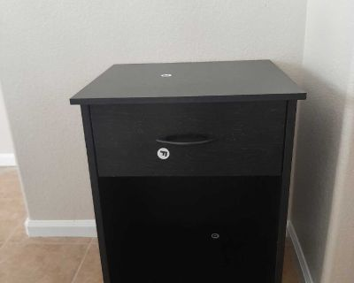 Black Nightstand/End Table-NEW