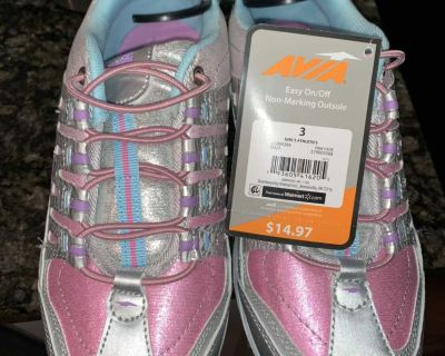 New Size 3 Girls Sneakers