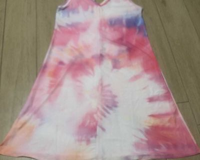 Women s Tye Die Dress Swim Suit Cover by Lily - Sz Small - Good Condition