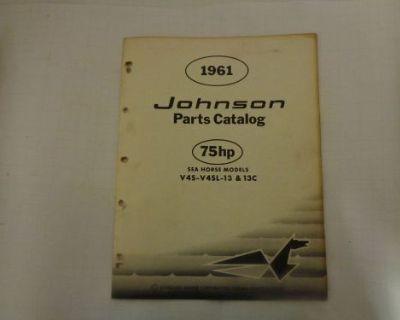 """1961 Johnson Parts Catalog 75 """"b"""" Hp Motors @@@check This Out@@@"""