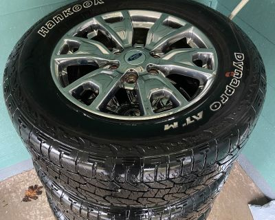 "Oregon - WTS Factory Chrome 18"" Wheels with Hankook Tires 14K miles"