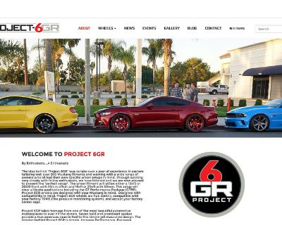 Exclusive for the Mustang6G community -www.Project6gr.com V.1- website launch