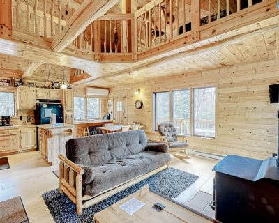 Hand-Built, Waterfront Log Home w/ Wood Stove, Firepit, Boat Landing & Boats! - Presque Isle