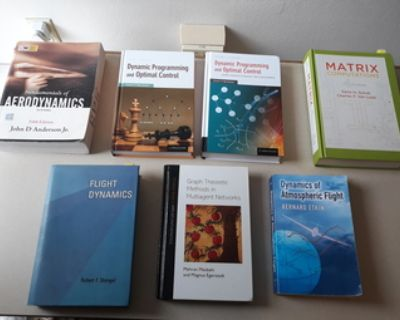Textbooks (optimal control/graph theory/flight mechanics)