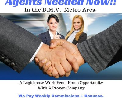 Work From Home Agents Needed Now! (DMV Metro & Surrounding Area)