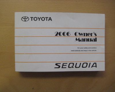 2006 Toyota Sequoia Books Owners Manual Oem Factory