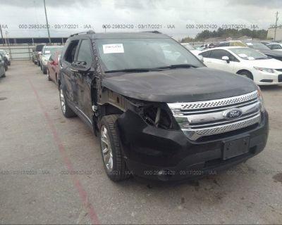 Salvage Black 2013 Ford Explorer