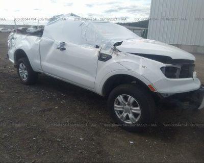 Salvage White 2020 Ford Ranger