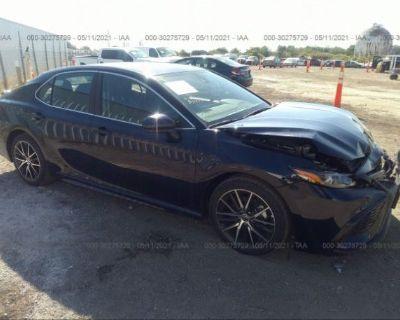 Salvage Blue 2021 Toyota Camry