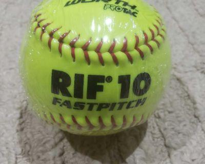 Brand New Worth RIF 10 Sof-Dot 12in Pro Tac Fast Pitch Softballs