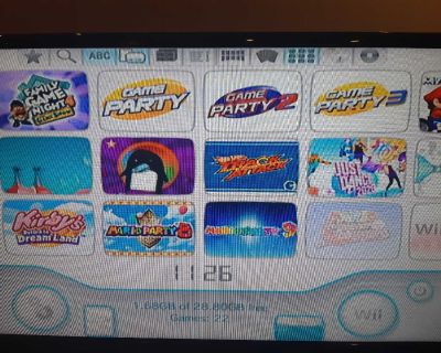 Nintendo Wii Modding. 2500 Games Installed including 22 Wii Games. Mario Kart and Mario Party