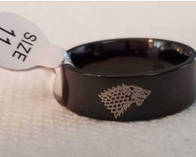 Titanium Game of Throne ring size 11 I have a pocket watch available listed also