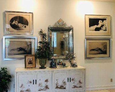 Icart Collector Estate Plus Erte Sketches on Bay Harbor Millionaire Row
