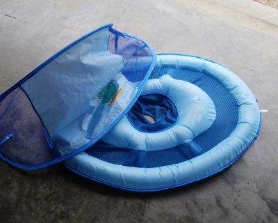 Like new baby float with canopy