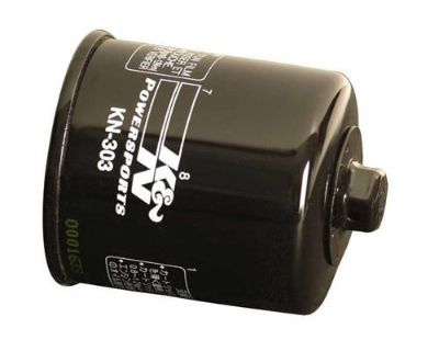 Yamaha Rhino Grizzly Bruin Kodiak 350 400 450 660 K&n Filter Oil Filter - Black
