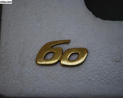 """Porsche 356 T6 """"60"""" Emblem Spript"""