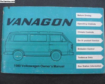 1980 vanagon owners manual