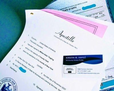 NYC SAME DAY APOSTILLE SERVICES AVAILABLE: Free Consultations