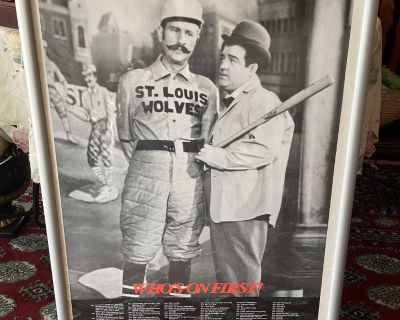ABBOTT AND COSTELLO WHO'S ON FIRST PRINT