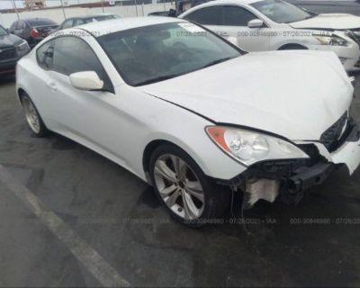 Salvage White 2010 Hyundai Genesis Coupe