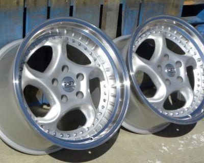 """18x11 18x9.5 18"""" Turbo Wheels 5x114.3 Nissan 350z Infinity G35 Honda Stance Jdm"""