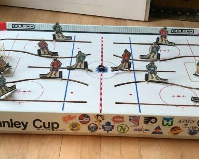Vintage COLECO NHL Stanley Cup Playoff Tabletop Hockey Game 5380-5385 Incomplete