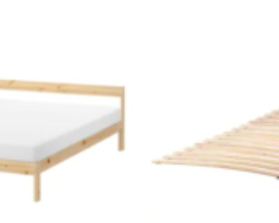 Double IKEA Mattress + Bedframe + Bed slats