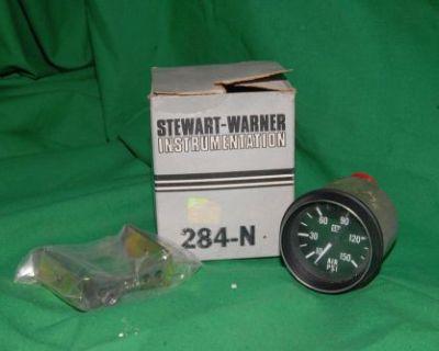 New Stewart Warner 284-n Mechanical Air Pressure Gauge 10psi - 150psi