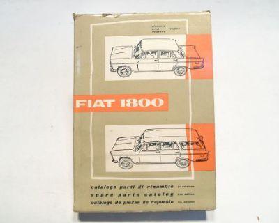 Fiat 1800 Sedan & Wagon Factory Original 2nd Edition Spare Parts Catalog 110.294