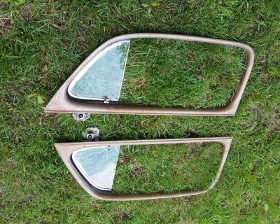 1946  Ford Coupe Window Interior garnish MoldingS 2 door 47 48 GLASS OEM