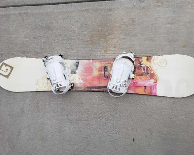 Women's 153 snowboard, bindings, boots and bag!
