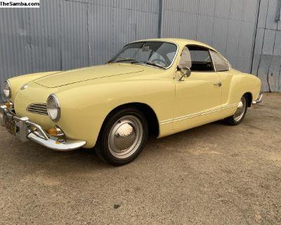 1964 VW Karmann Ghia Coupe. Original CA car.