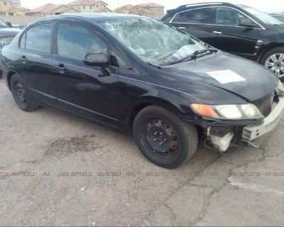 Salvage Black 2008 Honda Civic Sdn